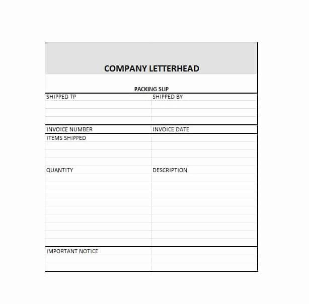 Free Packing Slip Template Unique 30 Free Packing Slip Templates Word Excel Template