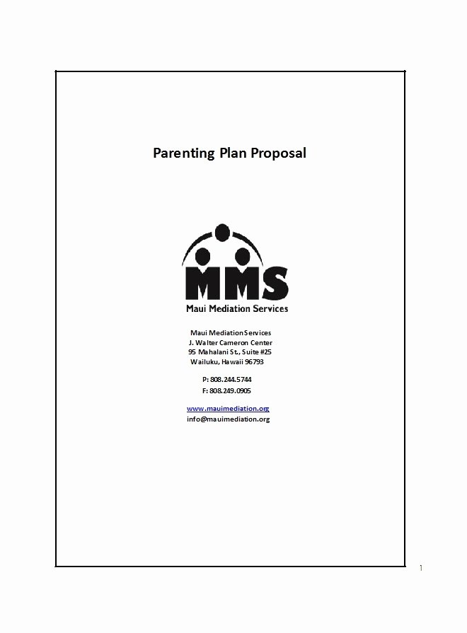Free Parenting Plan Template Download Best Of 49 Free Parenting Plan & Custody Agreement Templates