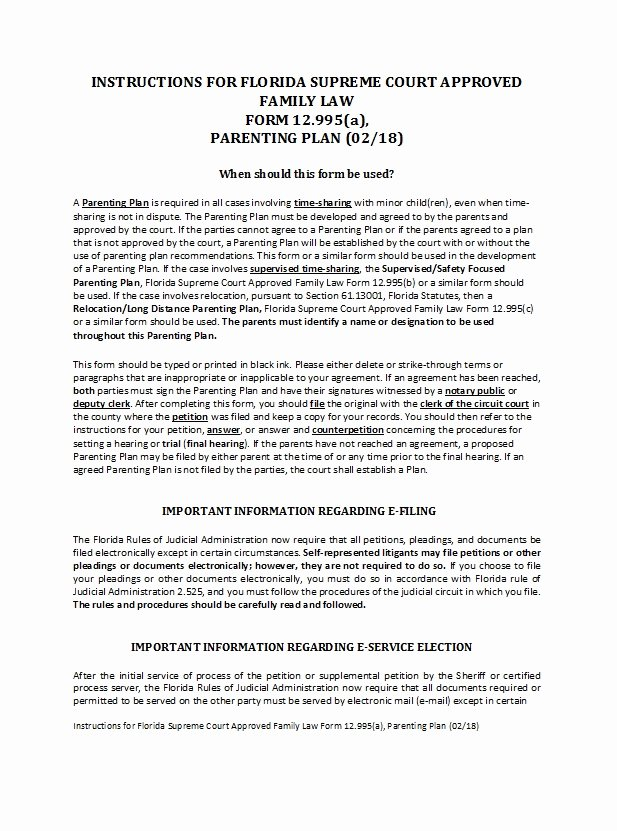 Free Parenting Plan Template Download Inspirational 49 Free Parenting Plan & Custody Agreement Templates
