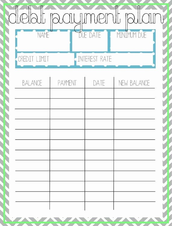 Free Payment Plan Template Best Of Debt Payment Plan Printable by Arodgersdesigns On Etsy