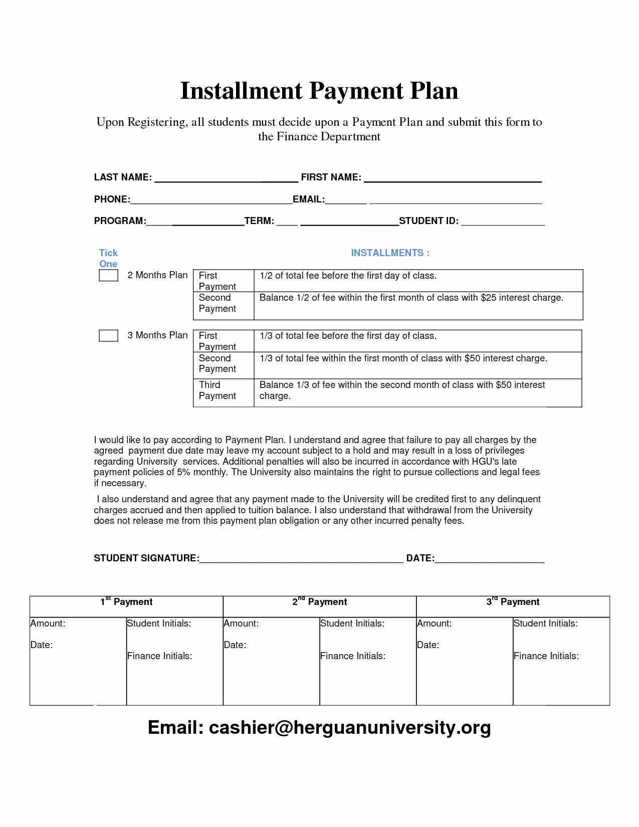 Free Payment Plan Template Best Of Payment Plan Template