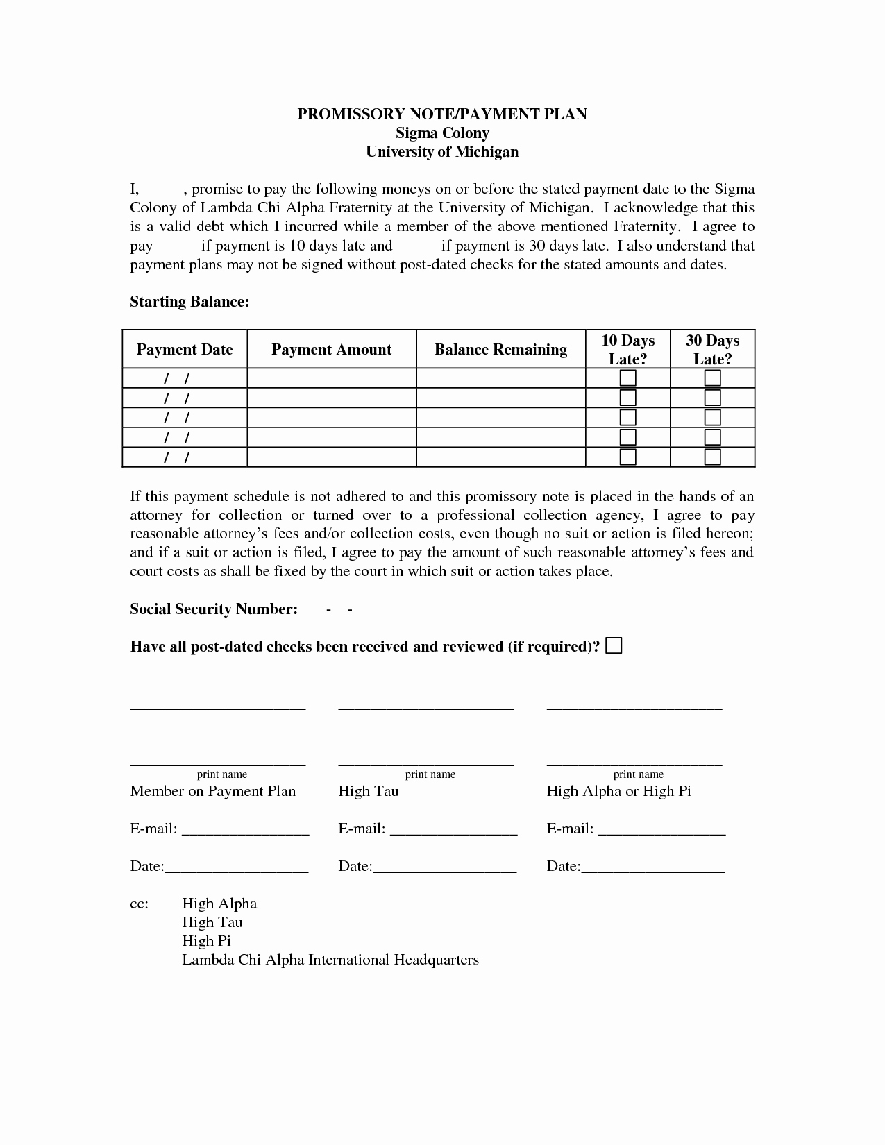 Free Payment Plan Template Elegant Payment Plan Template