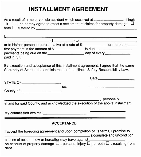 Free Payment Plan Template Inspirational Installment Agreement 7 Free Pdf Download