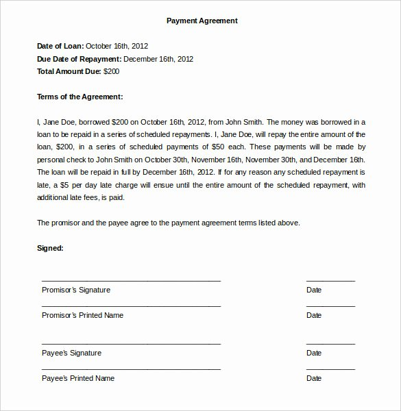 Free Payment Plan Template Unique Payment Plan Agreement Template 12 Free Word Pdf