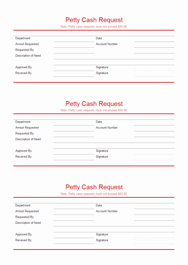 Free Petty Cash Template Inspirational Petty Cash Request