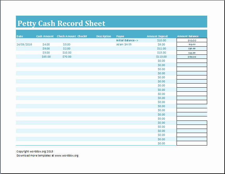 Free Petty Cash Template Luxury 8 Petty Cash Log Templates Excel Templates