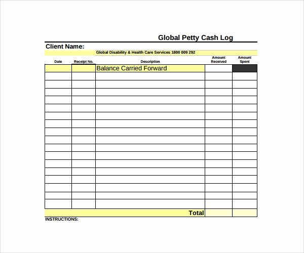 Free Petty Cash Template Unique Sample Petty Cash Log Template 8 Free Documents In Pdf