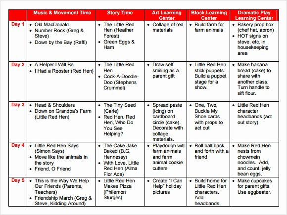 Free Preschool Lesson Plan Template Best Of Sample Preschool Lesson Plan 10 Pdf Word formats