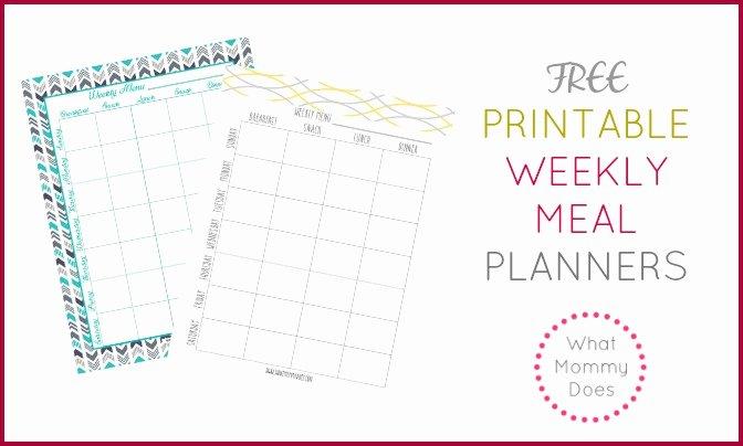 Free Printable Meal Plan Template Elegant Free Printable Weekly Meal Plan Template Super Cute Menu