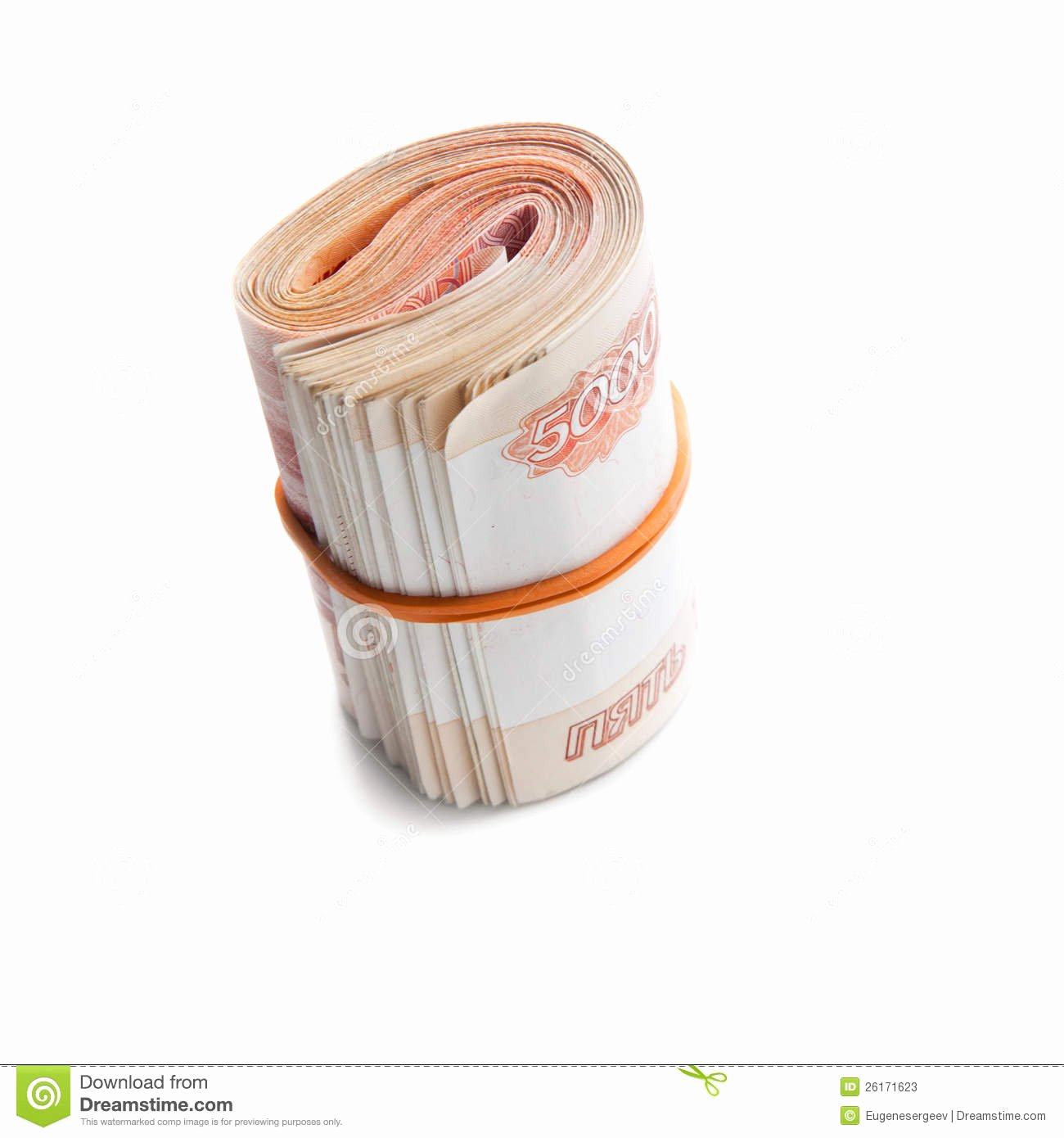 stock photos roll russian money rubber band image
