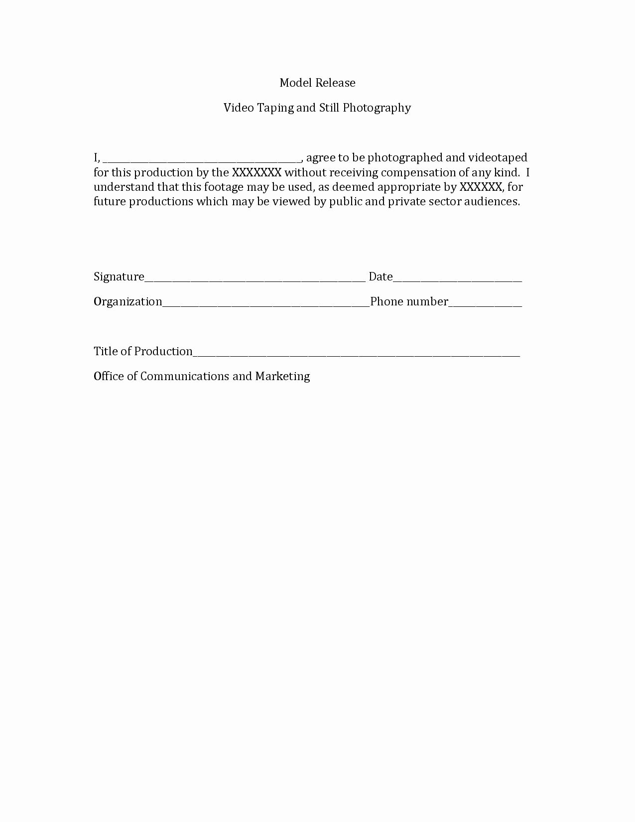 Free Printable Print Release form Beautiful Graphy Print Release form Sample