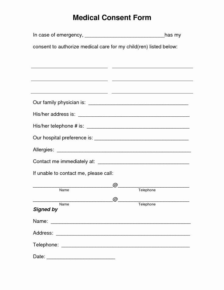 Free Printable Print Release form Elegant Free Printable Medical Consent form
