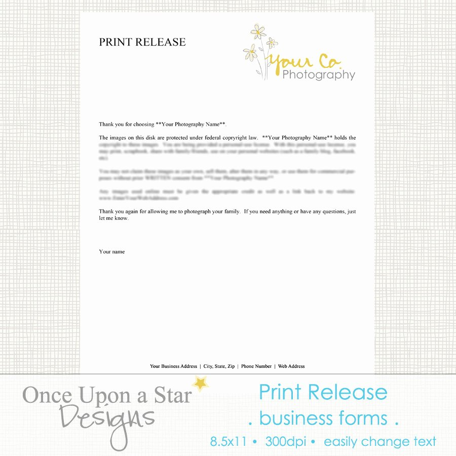 Free Printable Print Release form Inspirational Graphy forms Print Release form by Ceuponastardesigns