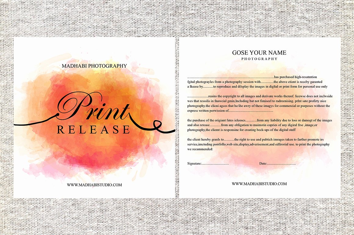 Free Printable Print Release form Luxury Release form Template Deals for Your Studio