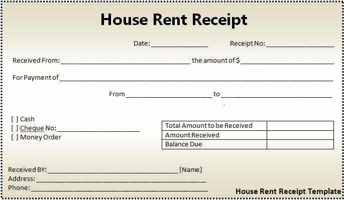 Free Printable Rent Receipt Awesome House Rent Receipt formats