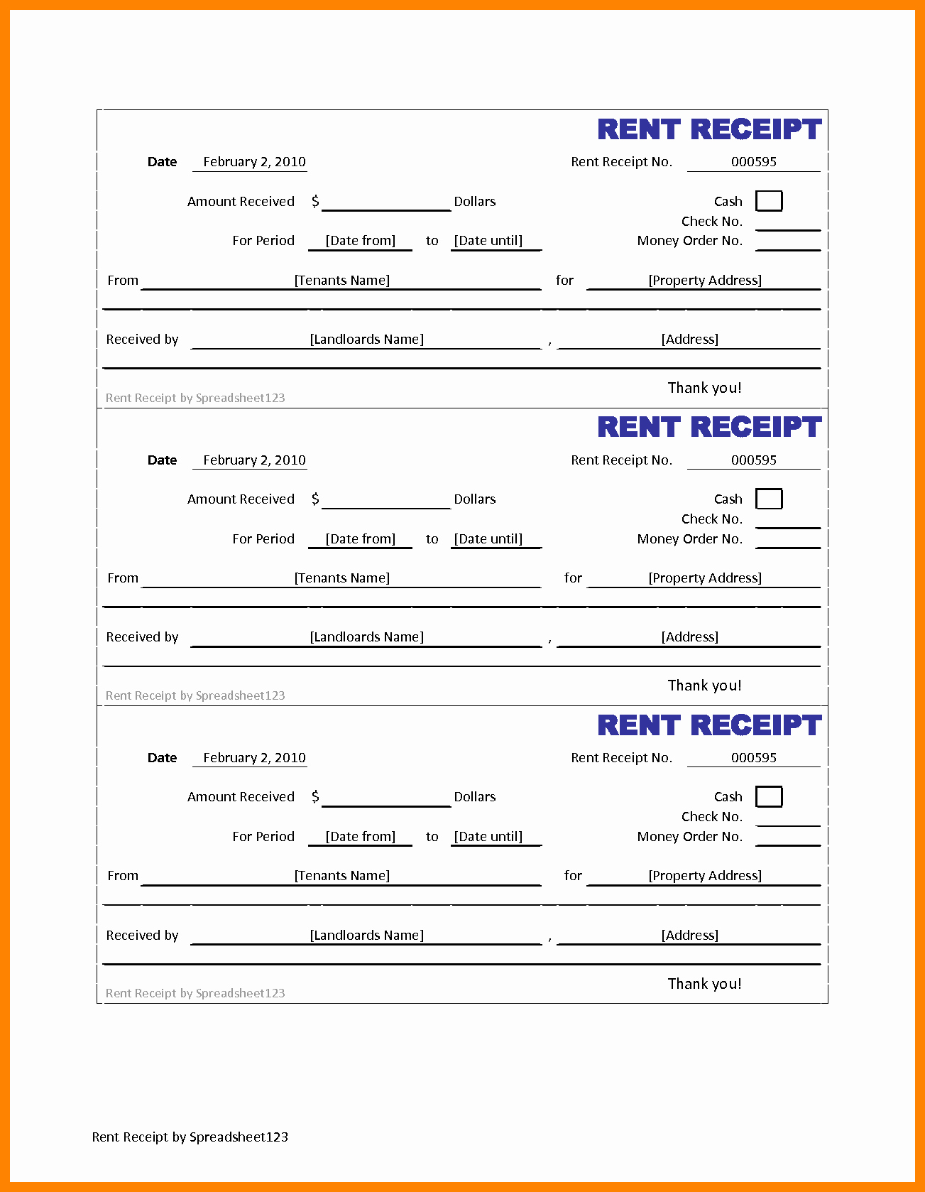 Free Printable Rent Receipt Inspirational Free Printable Rent Receipt Portablegasgrillweber