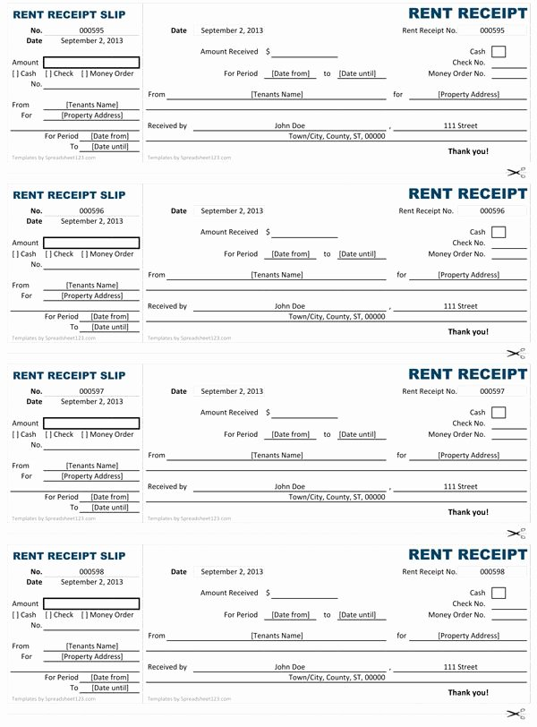 Free Printable Rent Receipt Lovely Customizable and Printable Rent Receipt Templates to Help