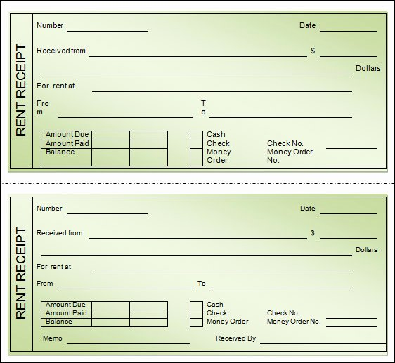 Free Printable Rent Receipt Unique 21 Rent Receipt Templates