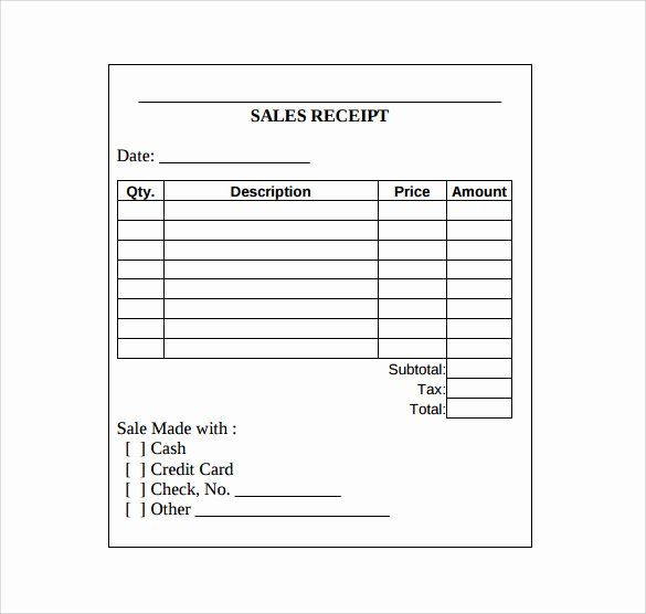 Free Printable Sales Receipt Awesome Sales Receipt Template 10 Download Free Documents In