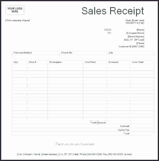 Free Printable Sales Receipt Beautiful Free Printable Sales Receipt Picture – Free Printable