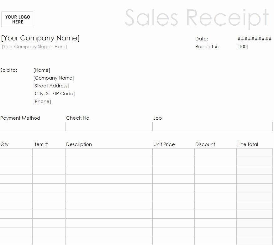 Free Printable Sales Receipt Best Of Printable Sales Receipt Template