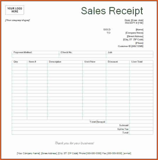 Free Printable Sales Receipt Unique Payment Received Receipt Template Free Printable Receipts