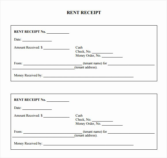 Free Rent Receipt form Awesome 7 Rent Receipt Templates – Free Samples Examples format