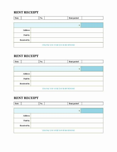 Free Rent Receipt form Fresh Free Rent Receipt Templates Download or Print
