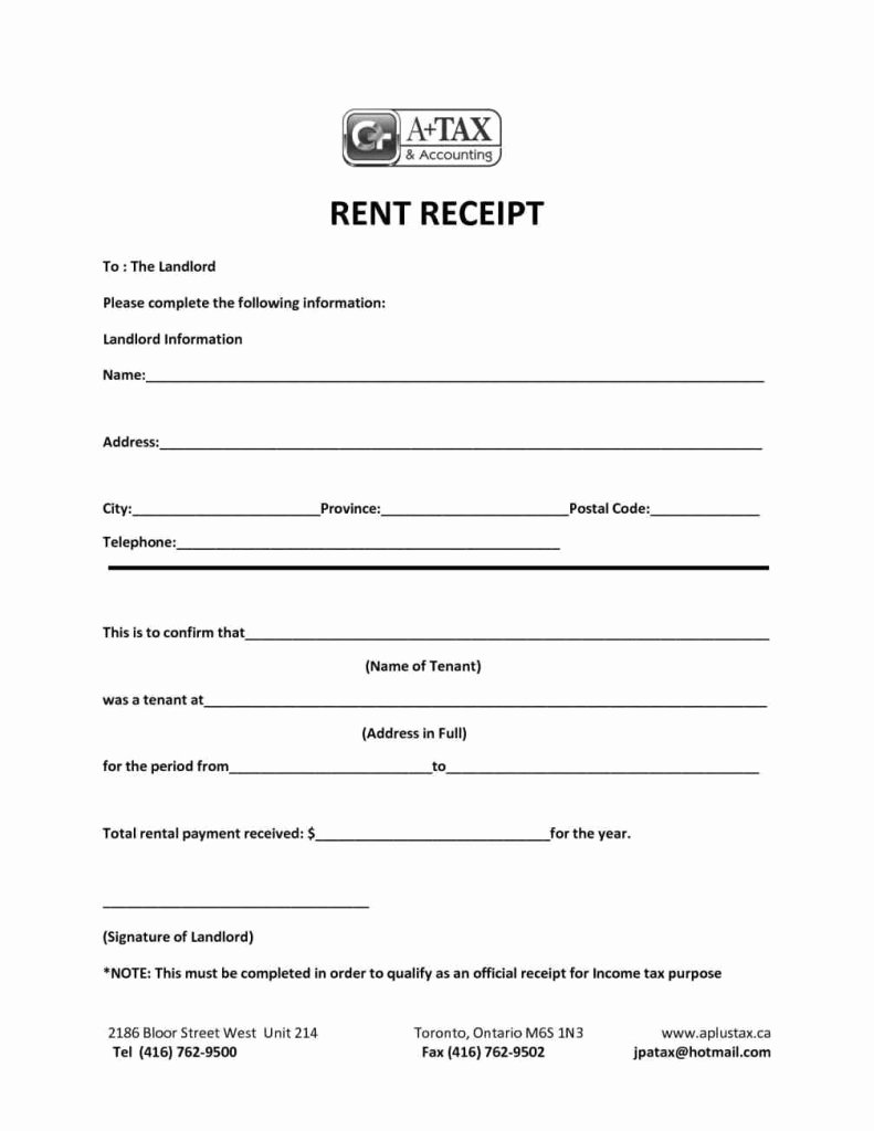 Free Rent Receipt form Luxury House Rent Receipt format India Blank Editable Line