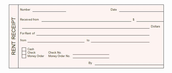 Free Rent Receipt form Luxury Rent Receipt form