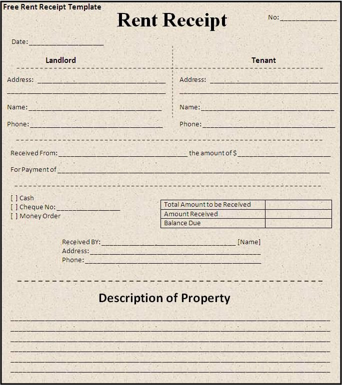 Free Rent Receipt form New Free House Rental Invoice