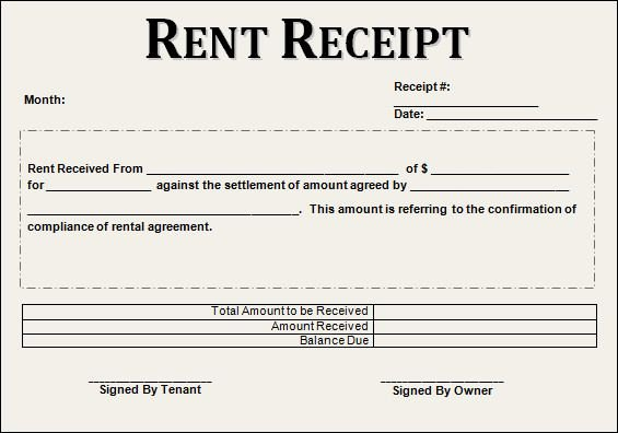 Free Rent Receipt Template Inspirational 12 House Rent Receipt formats