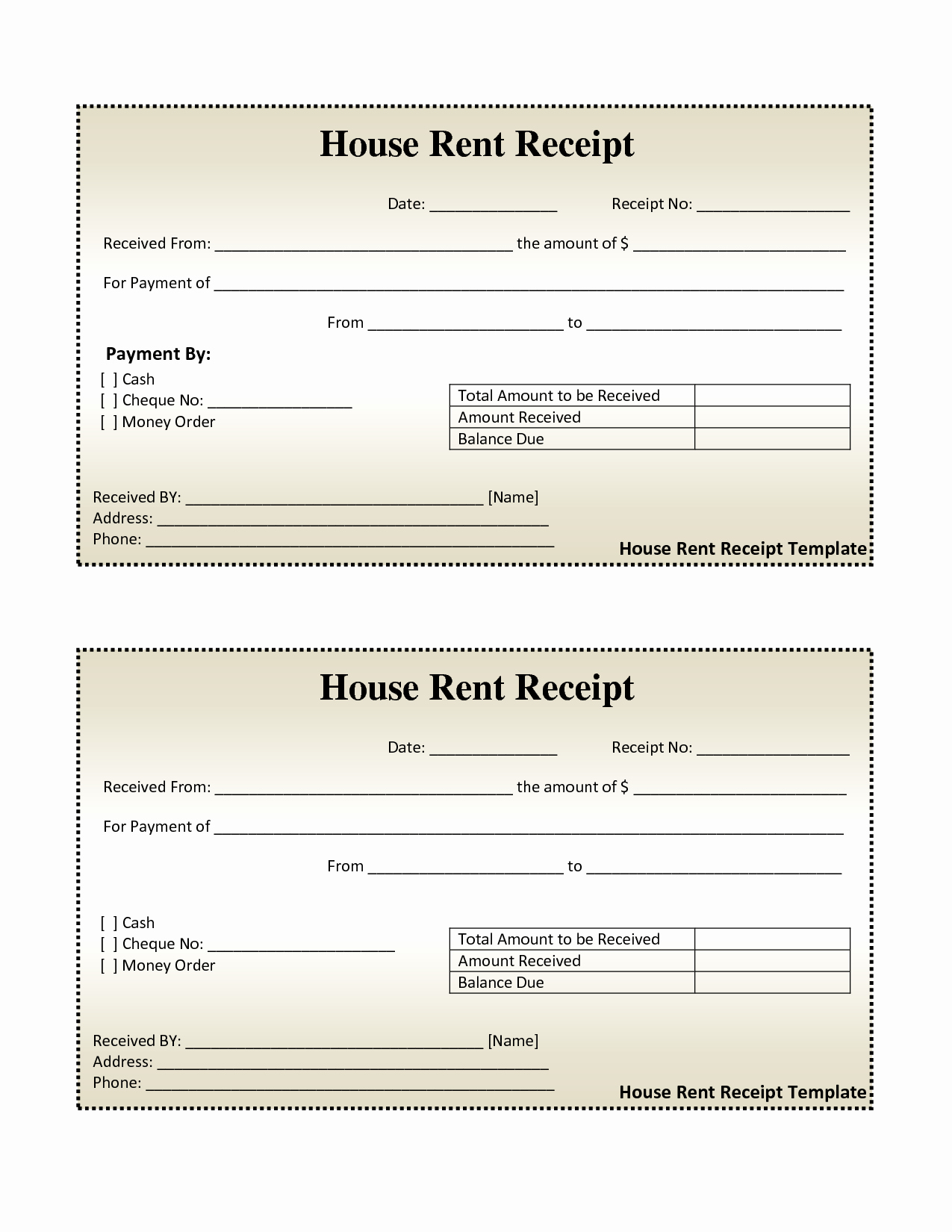 Free Rent Receipt Template New Free House Rental Invoice