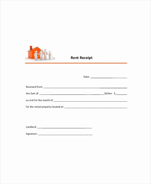 Free Rent Receipt Template Pdf Beautiful Rent Receipt Template 11 Free Word Pdf Documents