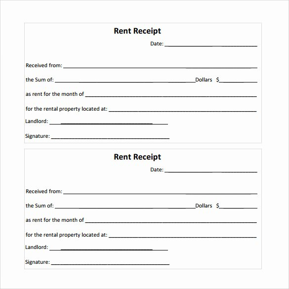 Free Rent Receipt Template Pdf Fresh 21 Rent Receipt Templates