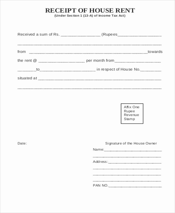 Free Rent Receipt Template Pdf New 6 Printable Rent Receipt Samples