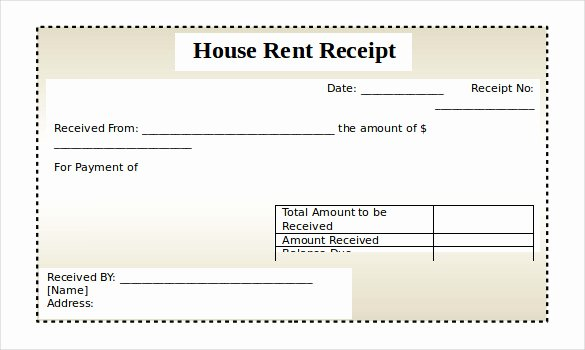 Free Rent Receipt Template Pdf New Rent Receipt Template Doc