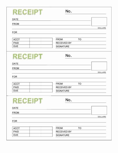 Free Rent Receipt Template Word Fresh 3 Rent Receipt Book with Header organizing Ideas