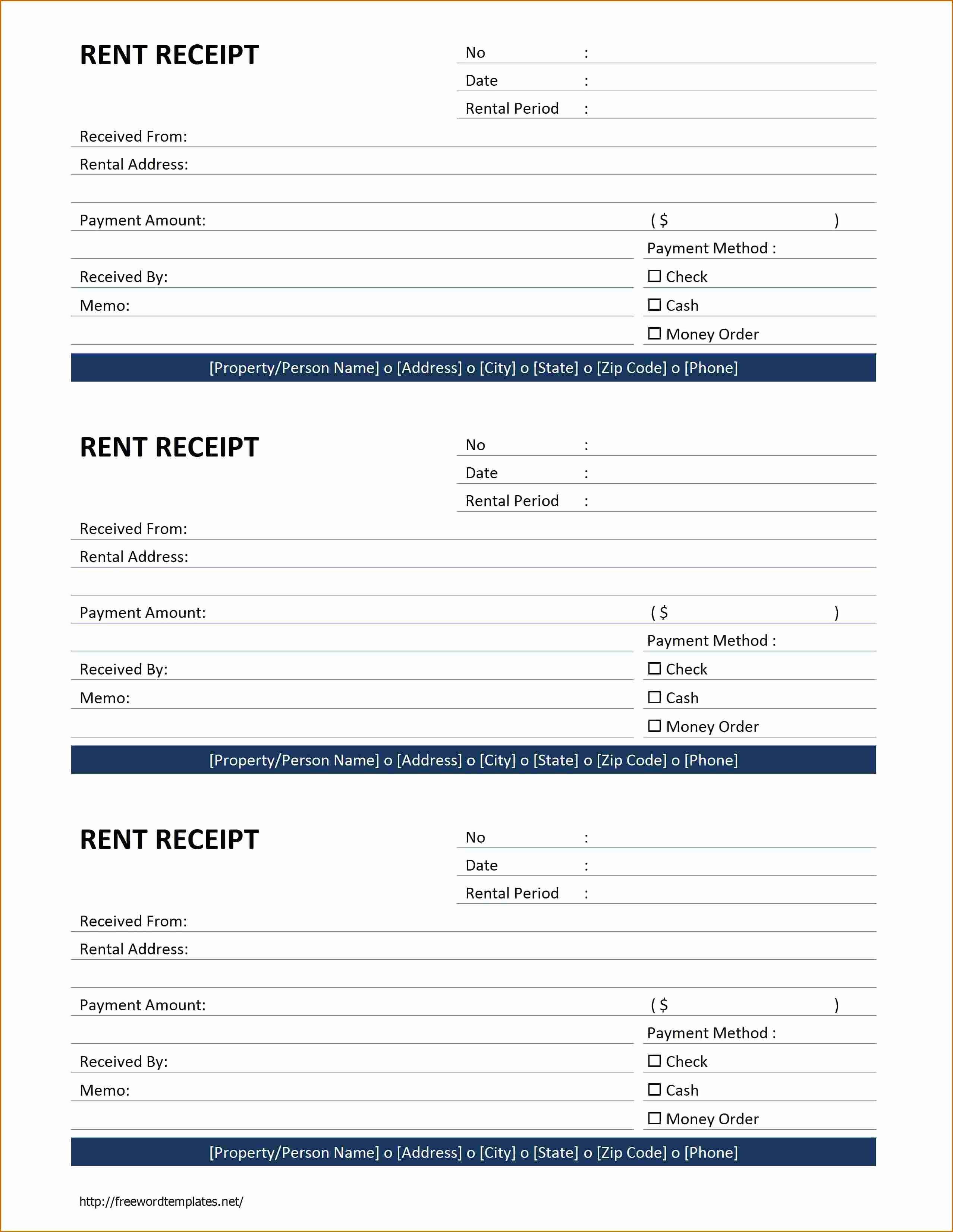 Free Rent Receipt Template Word Inspirational 6 Rent Receipt Template Word
