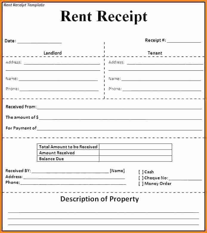 Free Rent Receipt Template Word New 6 Rent Receipt Templates