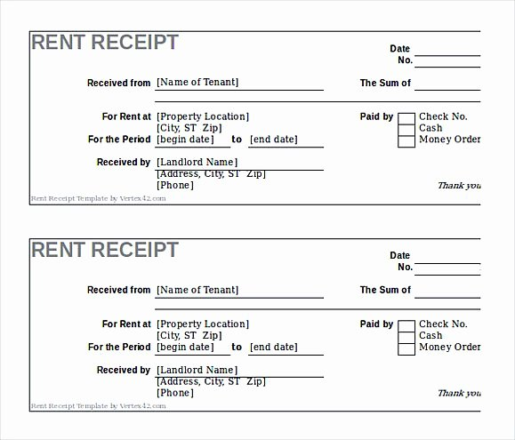 Free Rental Receipt Template Awesome Rent Invoice Template