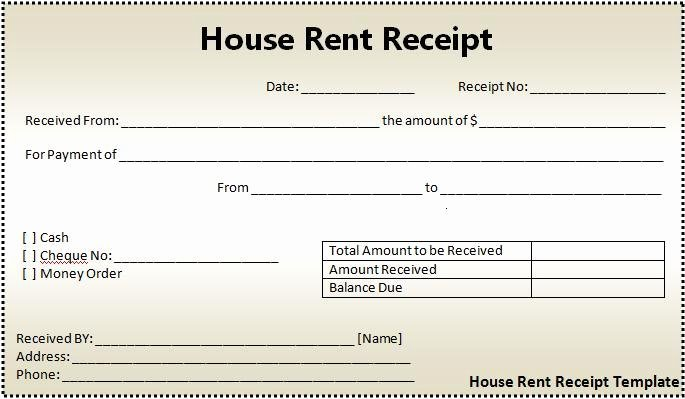 Free Rental Receipt Template Fresh 16 House Rent Receipt format
