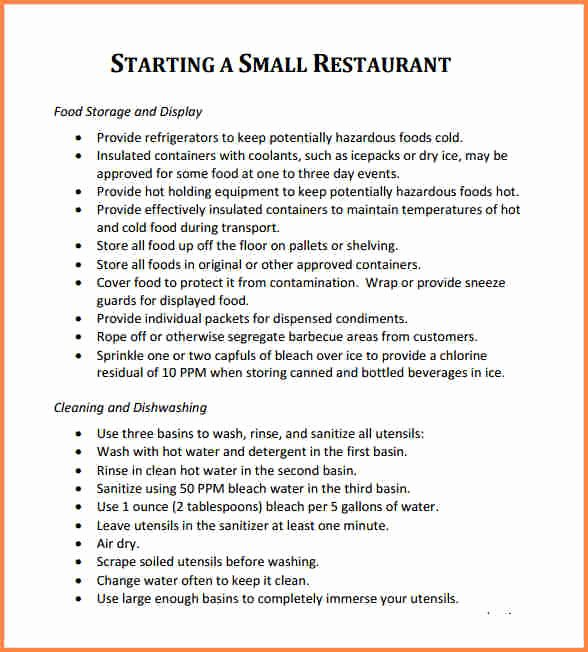 Free Restaurant Business Plan Template Luxury 5 Business Proposal for Restaurant