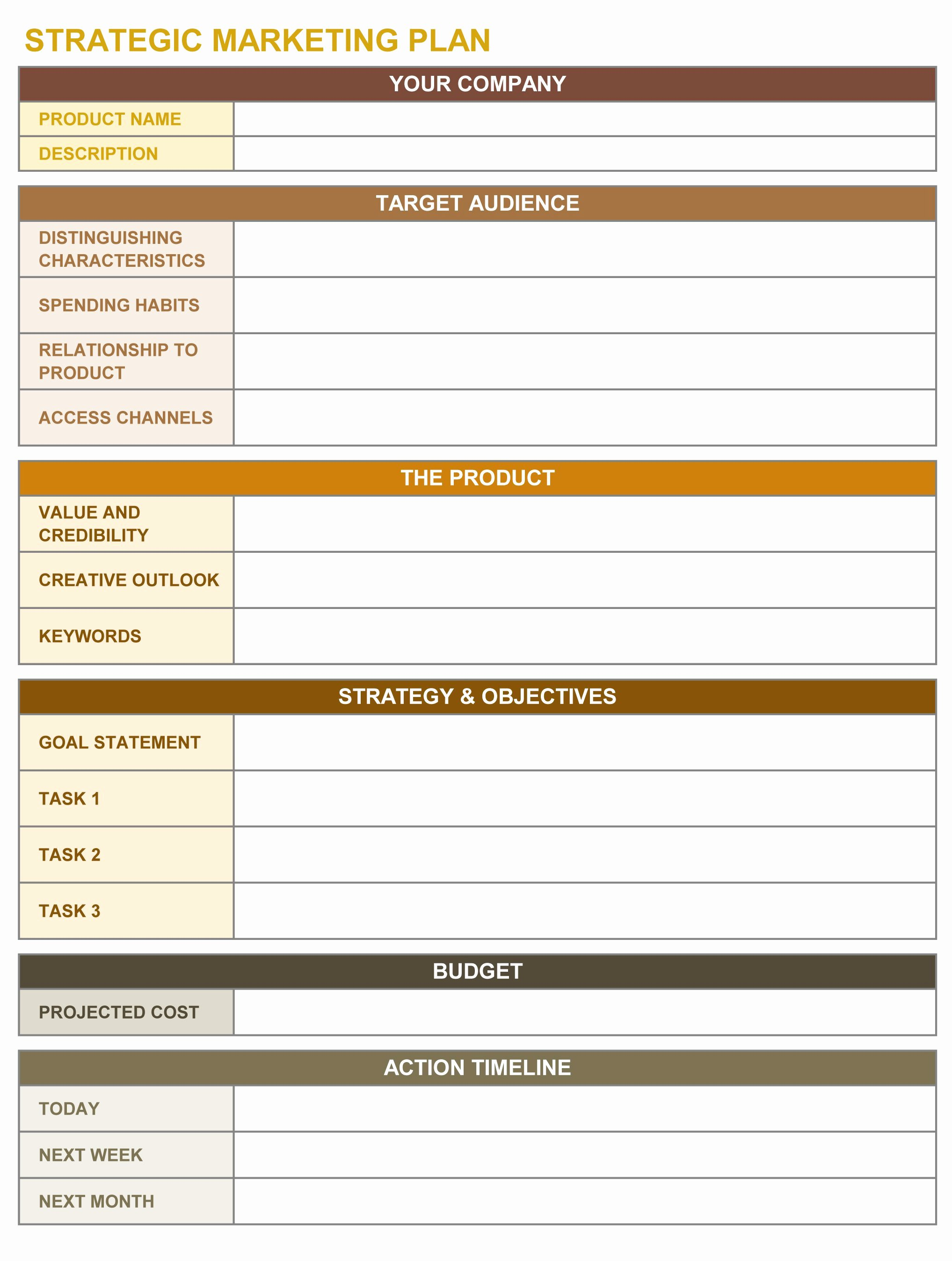 Free Strategic Plan Template Unique 9 Free Strategic Planning Templates Smartsheet
