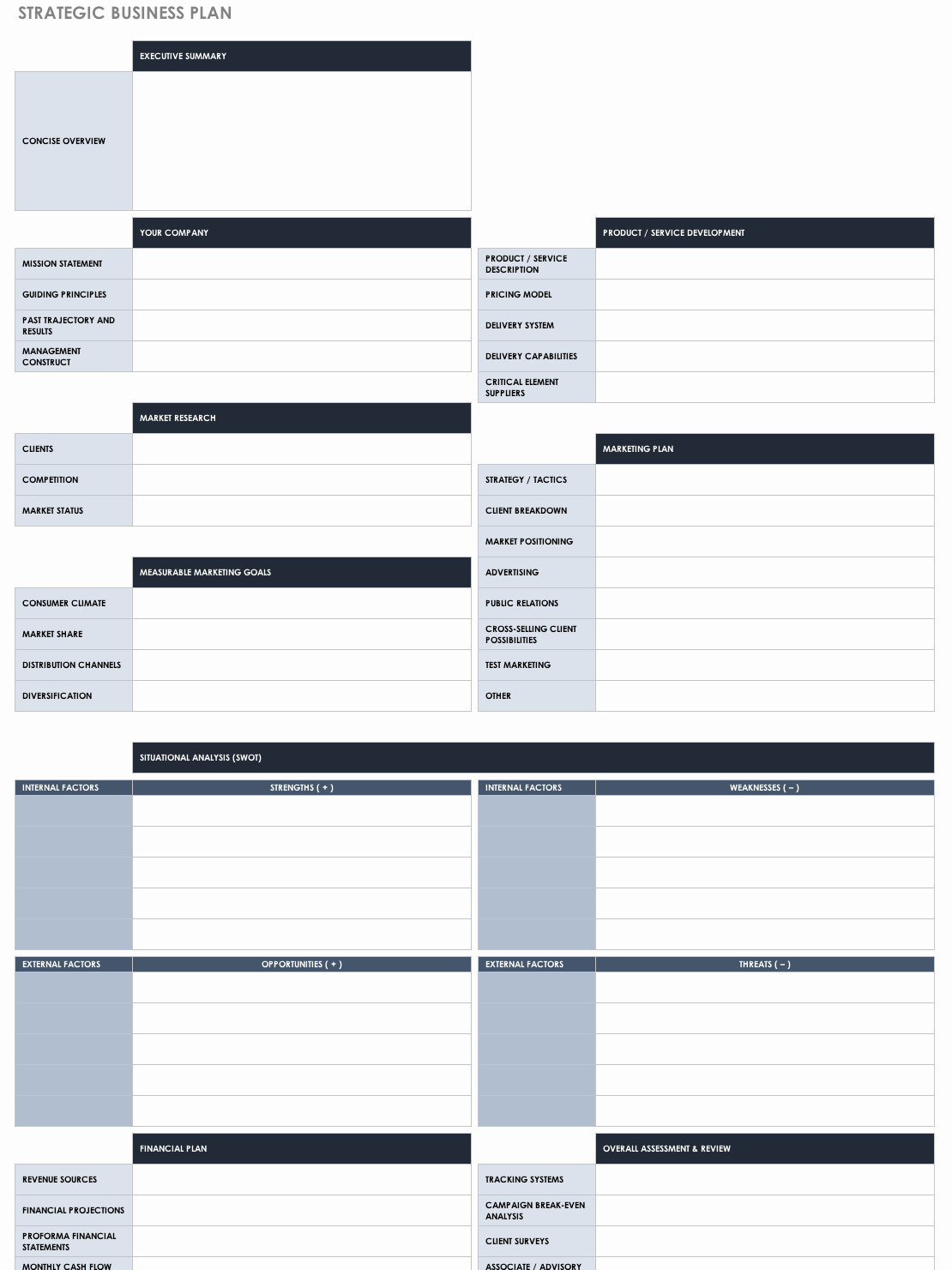 Free Strategy Plan Template Fresh Free Strategic Planning Templates