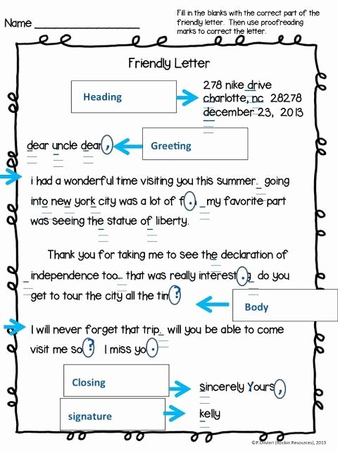 Friendly Letter format Pdf Awesome Teaching the Friendly Letter Free Resource Included