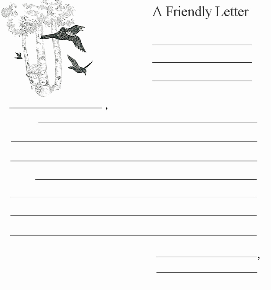Friendly Letter format Pdf Luxury 2019 Friendly Letter format Fillable Printable Pdf