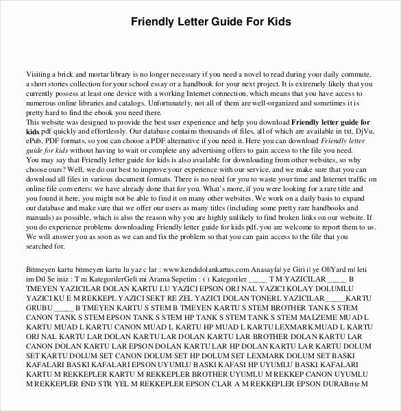 Friendly Letter format Pdf New 49 Friendly Letter Templates Pdf Doc