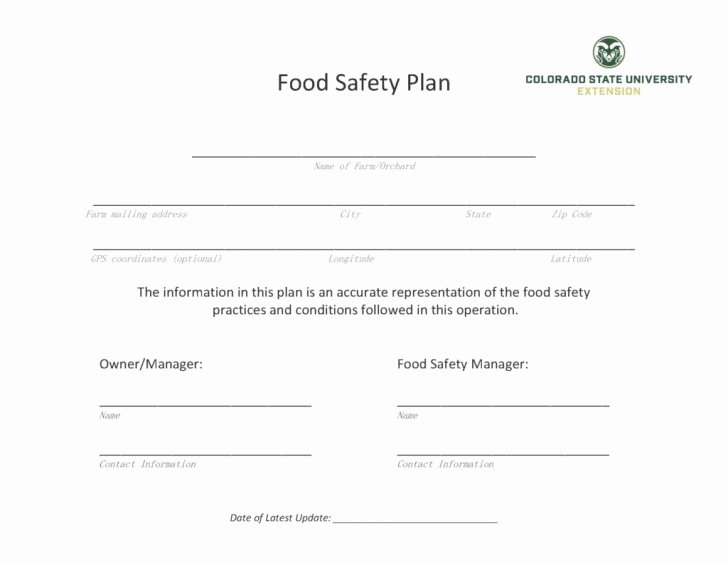 Fsma Food Safety Plan Template Lovely 001 Reproposed Fsma Table Links Farm Food Safety Plan