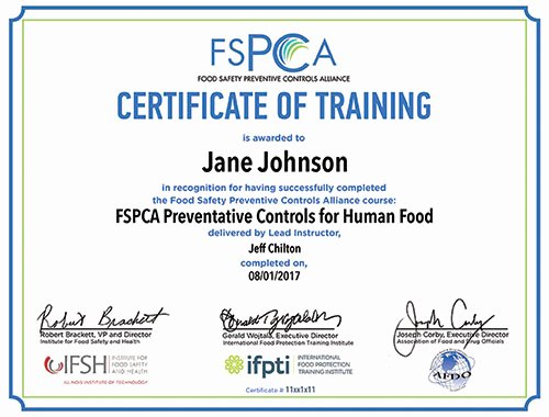 Fsma Food Safety Plan Template Lovely Preventive Controls for Human Food Blended Elearning